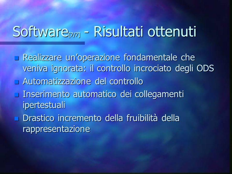 Software[7/7] - Risultati ottenuti